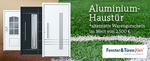 exclusive aluminium haust r zu gewinnen fenster und t ren welt. Black Bedroom Furniture Sets. Home Design Ideas